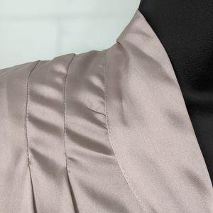 BR mad men blouse grey/silver 12 tie neck
